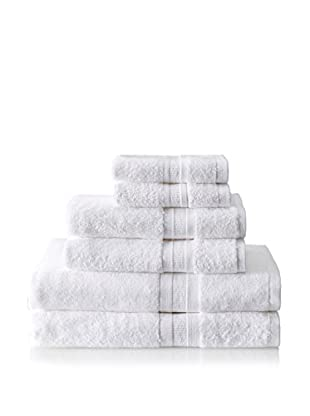 Terrisol MicroCotton Aertex 6-Piece Towel Set, White