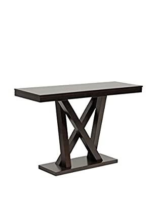 Baxton Studio Everdon Console Table, Dark Brown/Cappuccino