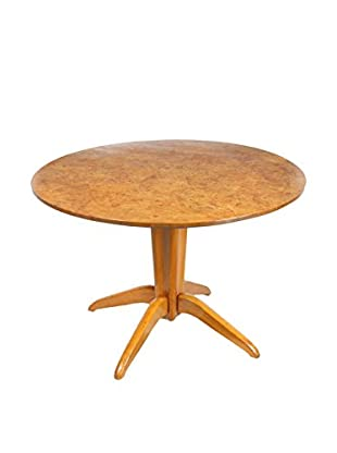Burl Wood Tilt Top Table, Blonde