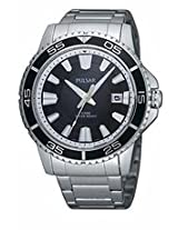Pulsar Black Dial Stainless Steel Mens Watch Pxh941