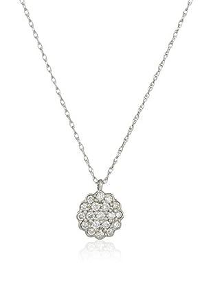 Bentelli Conjunto de cadena y colgante 9K Gold 0.24Ct Diamonds Oro Blanco