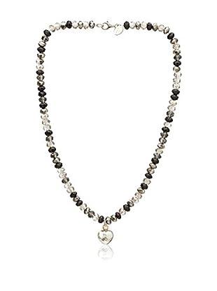 Alexandra Plata Conjunto de collar y colgante Espejo