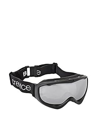 Black Crevice Skibrille schwarz/silberfarben