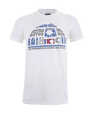 Star Wars T-Shirt R2D2 Text Head