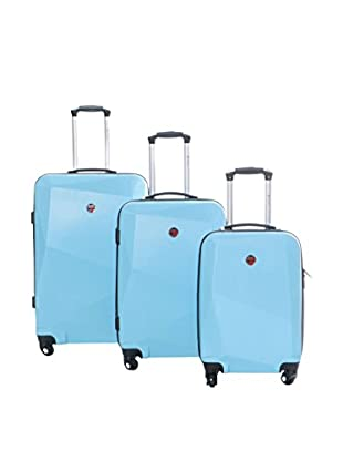 Geographical Norway Set de 3 trolleys rígidos Spot