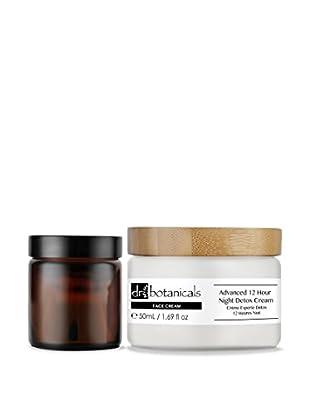 Dr Botanicals Gesichts- und Augenpflege 2 tlg. Set Advanced 12 Hour Night Detox Cream + Advanced Bio-Brightening Eye Cream