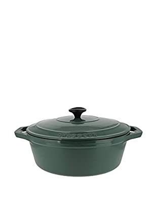 Chasseur 5.9-Qt. Cast Iron Oval Casserole with Lid, Green