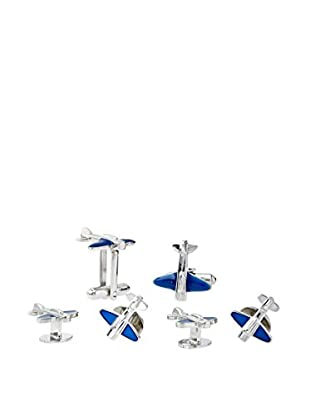 Link Up Airplane Cufflinks and Studs Formal Set