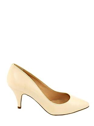 Eye Shoes Zapatos Puntera Afilada (Crema)