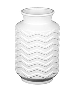 Privilege International Small Ceramic Chevron Vase