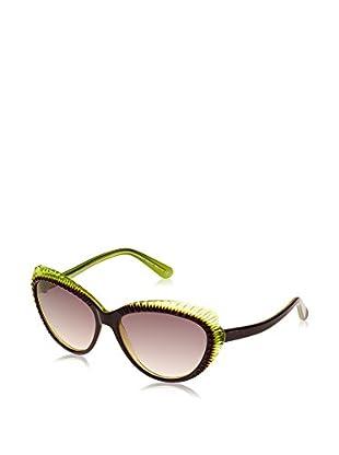 Alexander McQueen Gafas de Sol AMQ 4197/S (56 mm) Berenjena / Verde