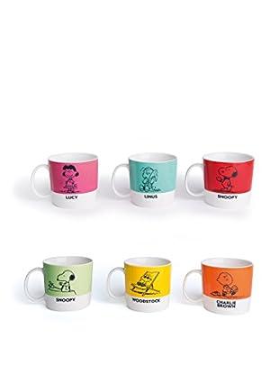 Kaffeetassen-Set, 6-tlg. Peanuts 230 ml. mehrfarbig