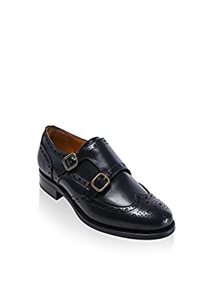 British Passport Zapatos Monkstrap Wing Cap