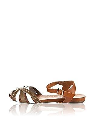 Bueno Shoes Sandalias Planas Pespuntes