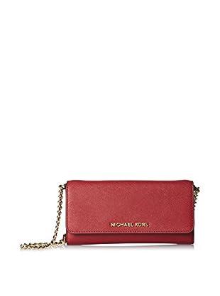 MICHAEL Michael Kors Women's Jet Set Travel Wallet, Red
