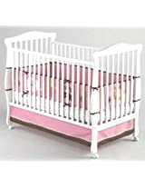 Little Bedding by NoJo 4 Piece Raspberry Jungle Bumper Set