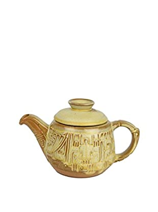 Uptown Down Vintage Frankoma Mayan-Aztec Teapot with a Lid