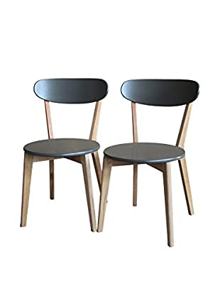Gallerie Décor Set of 2 Vista Chairs, Grey