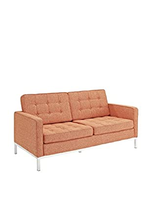 Modway Loft Loveseat (Orange Tweed Wool)