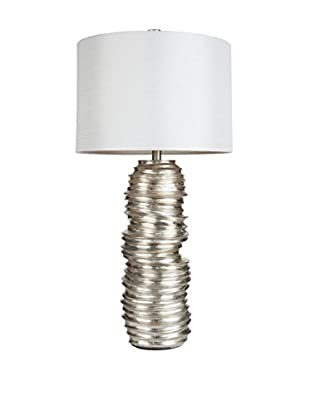 Surya Myers 1-Light Table Lamp, Aged Silvertone Leaf