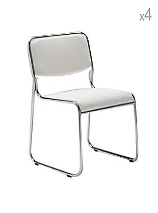 Tomasucci 4er Set Stühle Match weiß