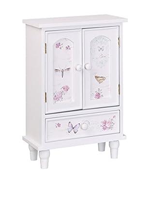 Romantic Style Joyero Butterfly Blanco