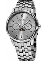 August Steiner Diamond Multi-Function Stainless Steel Mens Watch As8050Ss