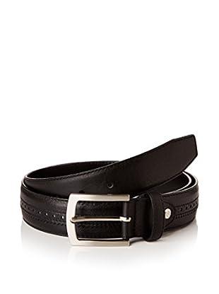 Ortiz & Reed Ledergürtel Black Leather Belt