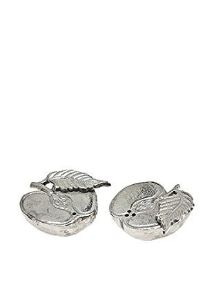 Godinger Cut Apple Salt & Pepper Shakers, Silver