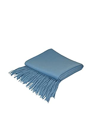 PÜR Cashmere Signature Blend Throw, Azure