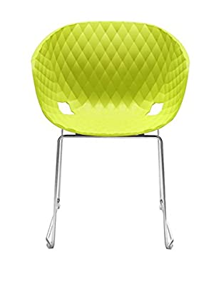 Metalmobil Stuhl Unika-595 grün/chrom