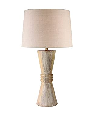 Design Craft Eldina Table Lamp, Natural Wood Grain Finish