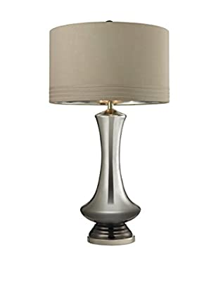 Artistic Lighting Tie Dye Table Lamp, Silver/Polished Chrome