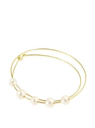 Manufacture Royale Collar de Oro Amarillo 9 ct con Perlas Blancas (9-10 mm)
