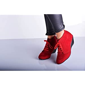 Veronica Boots-Red