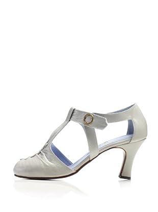 Fiel Women's Pilsey T-Strap Pump (Light Grey)