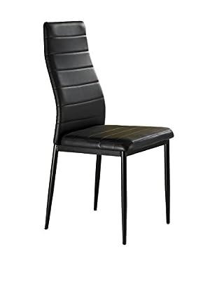 Contemporary Living Set Silla 4 Uds. Camaro Negro