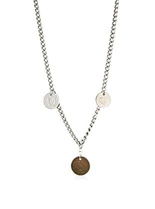 Ettika Silver-Tone Three Wishes Vintage Coin Necklace