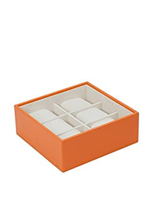 WOLF 6-Watch Stackable Tray, Orange