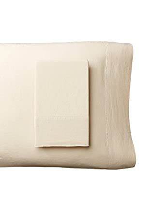 Mélange Home Prewashed Hemstitch Standard Pillowcase Set, Natural