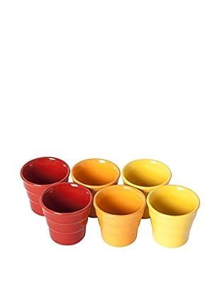 Molecuisine Espressotasse 6 tlg. Set Sun Colors rot/orange/gelb