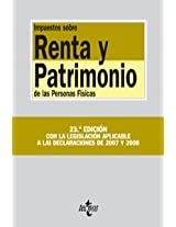 Impuestos sobre renta y patrimonio de las personas fisicas/ Income Tax and assets of natural persons (Derecho-Biblioteca De Textos Legales)