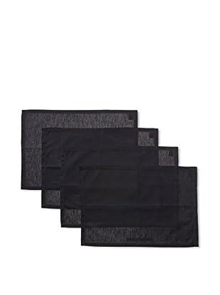 Garnier-Thiebaut Set of 4 Cannele Placemats, Black