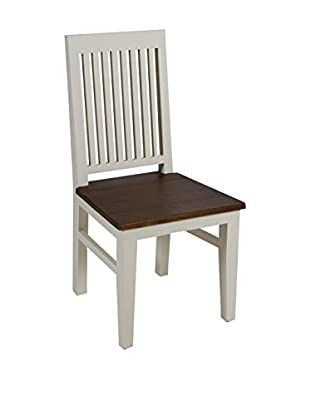 Colonial Style Stuhl Lucca weiß/braun