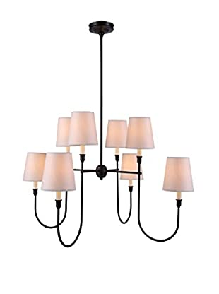 Urban Lights Lancaster 8-Light Pendant Lamp, Bronze