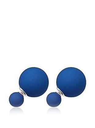 Pearly Ohrringe  silber/blau
