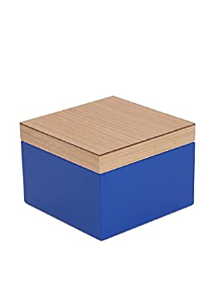 Wolf Designs Small Lacquer Wood Jewelry Box, Blue