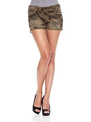Heartless Jeans Short Pretty Cloute Short Heartless Camouflage Caqui (Caqui)