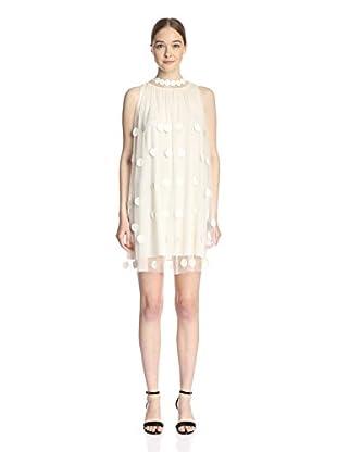 Gracia Women's Sheer Dot Dress