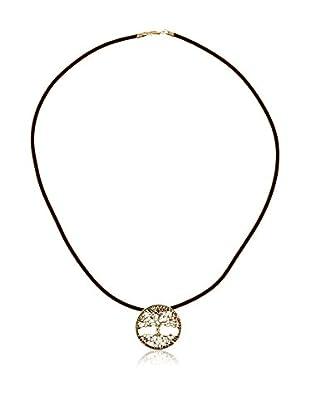 Cordoba Jewelles Conjunto de cordón y colgante plata de ley 925 milésimas
